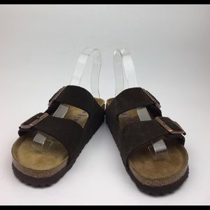 BIRKENSTOCK Arizona' Soft Footbed Suede Sandal sz6